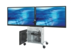Elite series dual display videoconferencing cart